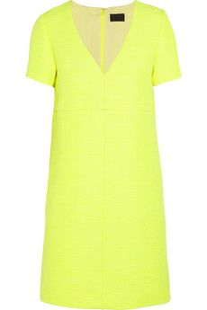 J. Crew Collection neon canvas dress