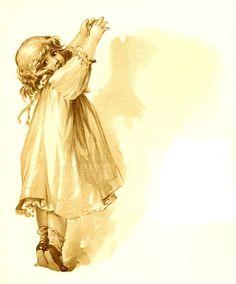 Antique Images: Free Digital Journaling Spot: Antique Baby-Themed Journaling spot Little Girl
