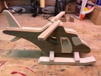Handmade Wooden Toy Helicopter, From Four Quick and Easy Airplanes, Made from Ceder and Pine Educational Toys For Kids, Kids Toys, Children's Toys, Wood Crafts, Diy And Crafts, Wood Projects, Projects To Try, Airplane Crafts, Wood Toys Plans