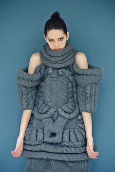 Sophia Doglio Scuptural knitwear