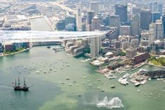Blue Angels in Boston, USA.  - http://earth66.com/aerial/blue-angels-boston-usa/