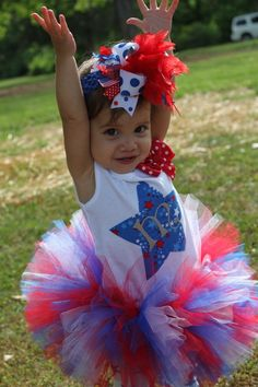 4th of July Outfit - American Sweetie - Over The Top Bow, Tutu and tank top or onesie