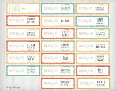 PRINTABLE Love Coupons for Him INSTANT DOWNLOAD by InfoGreetings