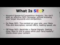 search engine optimization is the process of improving the quality and volume of web traffic to a website by employing a series of proven Seo techniques that help a website achieve a higher ranking with the major search engines..