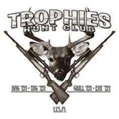 Trophies Hunt Club Tag Em Bag Em Grill Eat Em deer buck Item# H015 by Mychristianshirts on Etsy