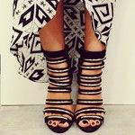 Tribal Print and Strappy Sandals. Photo by @Nordstrom Dadeland