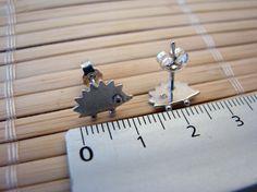 too cute! handmade hedgehog jewelry