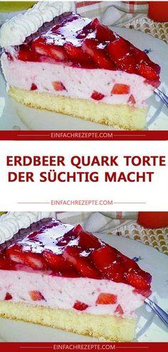 Erdbeer Quark Torte , der süchtig macht 😍 😍 😍 Strawberry curd cake that makes you addicted 😍 😍 😍 Raspberry Smoothie, Apple Smoothies, Baking Wallpaper, Buckwheat Cake, Strawberry Cake Recipes, Snacks Sains, Salty Cake, Limoncello, Savoury Cake