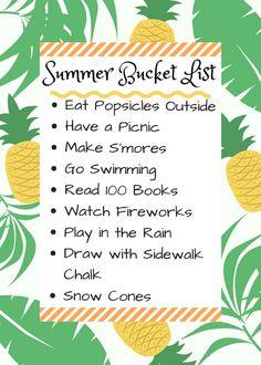 Summer Bucket List 2018 Our fun Summer plans. Summer to do.