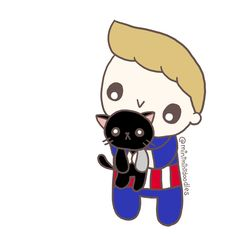 Steeb also found a cat :) Bucky and his cat is here  [Doodle Master List]