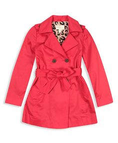 Stylish little girls trench