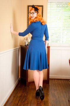 Sabrina Dress in Royal Blue