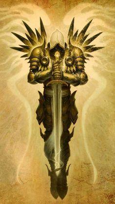 Tyrael, Arch Angel of justice, Diablo Fantasy Kunst, Fantasy Art, Body Art Tattoos, Sleeve Tattoos, Tatoos, Archangel Tattoo, Archangel Azrael, Character Art, Character Design