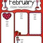 February newsletters for your class! and a bonus groundhog sheet - will he see his shadow or not? Class Newsletter Template, Preschool Newsletter Templates, Letter Templates Free, Calendar Templates, Teacher Newsletter, Preschool Projects, Preschool Worksheets, Teachers Pay Teachers Freebies, Second Grade