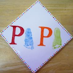 "Father's Day ""Papa"" Footprint Card Craft"