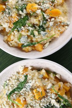 Butternut Squash, Rosemary and Blue Cheese Risotto