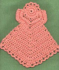 Janelle's Dishcloth Angel #1 ~ free pattern