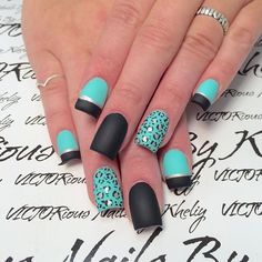 Matte blue and black leopard