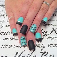 Matte blue and black leopard