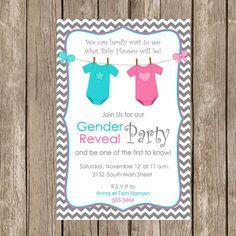 Gender Reveal Invitation Baby Reveal Invite by ModernBeautiful, $12.00