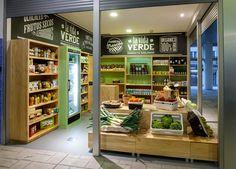 Diseño de Arcadia para tienda de productos ecológicos en el Novo Mercado de A Estrada.