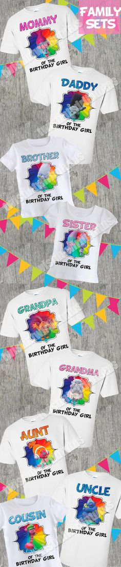 Trolls Family Shirt Set | Trolls Birthday Party Ideas | Trolls Birthday | Troll Birthday Shirt | Trolls Matching Family Shirts | Birthday Party Ideas for Girls | Twistin Twirlin Tutus #trollsbirthday #kidsbirthdayparty