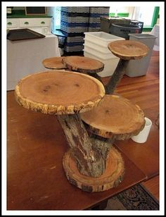 rustic cupcake stand plus 34 other ideas for DIY cupcake stands, this is my favorite! No tutorial but a great idea.