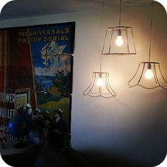 Vintage lampshades - naked style :)