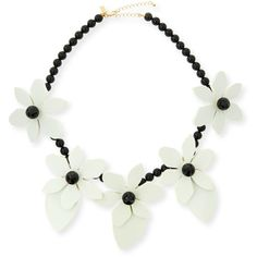 kate spade new york lovely lillies statement necklace ($265) ❤ liked on Polyvore featuring jewelry, necklaces, cream, kate spade, cream jewelry, flower statement necklace, kate spade necklace and flower jewelry