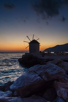 Aigiali Windmill, Amorgos, Greece
