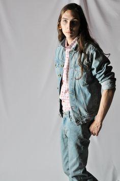 R.Davies S/S15  Tom (denim jacket, vintage wash) Malcolm (shirt, burgundy check) Jean (selvedge denim, vintage wash) http://www.rdavies-man.com/