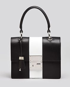 8508a5d1b8c3 Michael Kors Satchel - Middleton Square Flat Stripe Handbags - All Handbags  - Bloomingdale s