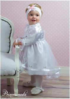 LOTTE mit BOLERO - Traum Taufkleid in weiß! - Princessmoda - Alles für Taufe Kommunion und festliche Anlässe