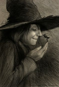 now this is a cute witch that I like, cute not scary