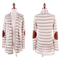 #stripes #elbowpatches #cardigan #retro #vintagechic #stylish #suede #layeringlook #fallfashion #restocks #classiclook #fashionista #instafashion #ootd #instastyle