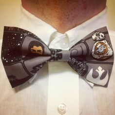 The droid that everyone is looking for!  Bowtie is clip-on. Item will ship within 2 business days and should arrive within 3 business days.