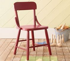 Love the vintage preppy-ness of these Hudson chairs.  If there's room for a table and chair set in the nursery it's a great item for them to grow into and great storage/display space in the meantime #potterybarnkids