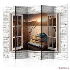 Parawan 5-częściowy - Jesienne jezioro II [Room Dividers] Decorami.pl