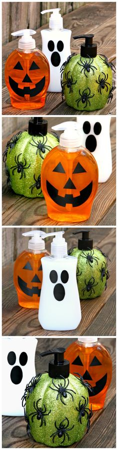DIY Halloween Soap Dispensers - A fun and easy Halloween craft project. #CraftLightning