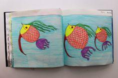 LAURA GUILLÉN 24-7-15 diario arte artista naturaleza mar peces sketchbook art artist nature sea fishes