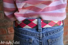 Dukes and Duchesses: A Duct Tape Belt {for Girls}