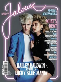 Hailey Baldwin scored a spot on Jalouse Mag's April 2015 cover alongside Lucky Blue!