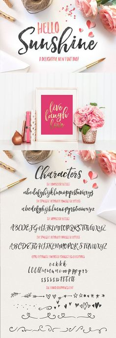 Swooning over this hand lettered calligraphy script font! Helloooo amazing blog graphics!
