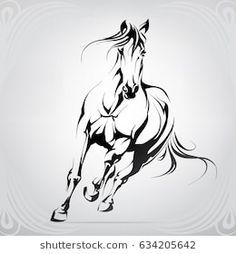 Explore 951 high-quality, royalty-free stock images and photos by nutriaaa available for purchase at Shutterstock. Painted Horses, Graffiti Wall Art, Mural Wall Art, Horse Drawings, Animal Drawings, Tattoo Caballo, Dancing Sketch, Horse Tattoo Design, Grafic Art