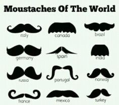 Mustaches of the world. If I had a mustache it would be the Italy one