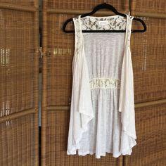 White vest White vest with lace detailing Decree Jackets & Coats Vests