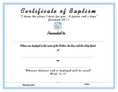 Foundations in biblical studies certificates pinterest certificate template for kids free printable certificate templates for church baptism certificate templates yadclub Choice Image