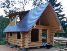 Small Log Cabins ~ http://modtopiastudio.com/idea-for-building-a-log-cabin-using-professional-staff/