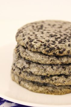 Black Sesame Shortbread Cookies