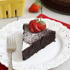 Dark Chocolate Soufflé Cake by Tracey's Culinary Adventures